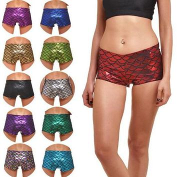 DCCKJ1A Plus size 4 XL Sexy scale print Yoga fitness sports hot pants