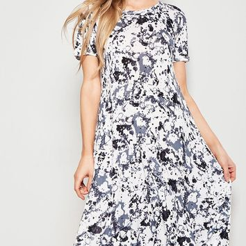 Marble High-Low Dress