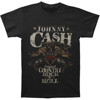 Johnny Cash Men's  Rock N Roll T-shirt Black