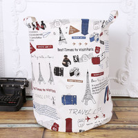 Cotton Linen Home Lovely Cartoons Multi-functioned Storage Bin [6283602758]