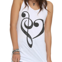 Music Heart Girls Tank Top