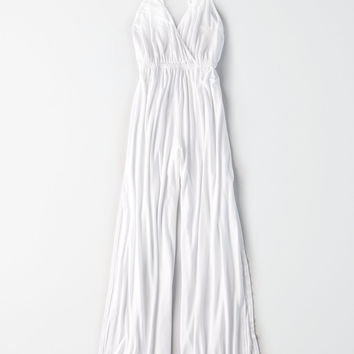 Don't Ask Why Side Slit Jumpsuit, White