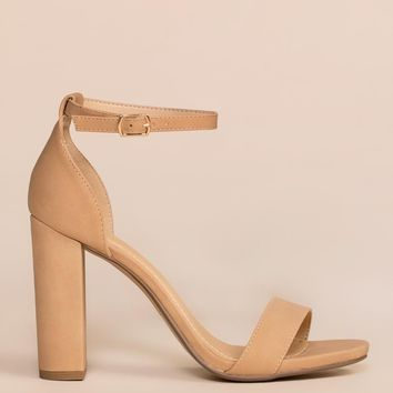 Steal Your Attention Heels - Nude