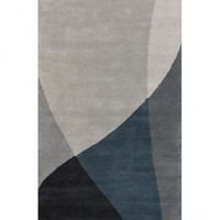 Chandra Rugs Hand-tufted Contemporary Bense Garza BEN-3003 Rug - BEN-3003 - Blue and Purple Rugs - Area Rugs by Color - Area Rugs