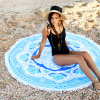 Serviette Ronde Beach Roundie Beach Round Towel Round Beach Blanket Boho Towel Beachsheet Round Turkish Towel Sacred Geometry