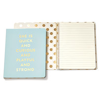 kate spade new york spiral notebook quick & curious