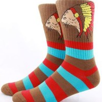 Odd Future, Native Cat Socks - Brown - Odd Future - MOOSE Limited