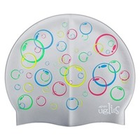 Dolfin Bubbles Silicone Swim Cap at SwimOutlet.com