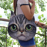3D Cat Face Bag