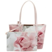 TED BAKERWomens Nude Pink Joanah Porcelain Rose Small Shopper Bag & Purse