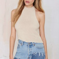 Halter Skelter Knit Top