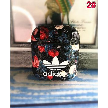 Adidas Newest iPhone Airpods Headphone Case Wireless Bluetooth Headphone Protector Case(No Headphones) 2#