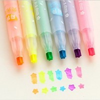 Highlighter written singular creative type stars 12pcs