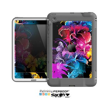 The Magical Glowing Floral Design Skin for the Apple iPad Mini LifeProof Case