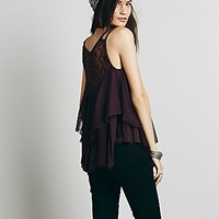 Free People Womens Strappy Candy Ruffle Tank