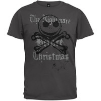 Nightmare Before Christmas - Jack & Crossbones Soft T-Shirt (Size: XL, Color: Grey) = 1929727364