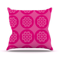 "Nicole Ketchum ""Moroccan Hot Pink"" Outdoor Throw Pillow"