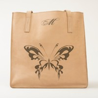 Monogram Butterfly Leather Tote