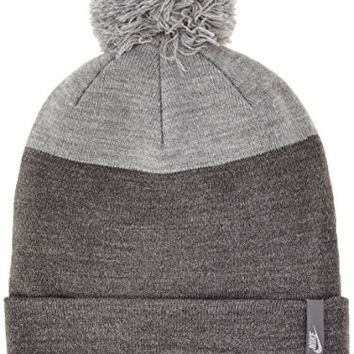 Nike Women's Sportswear Pom Beanie (One Size, Charcoal Heather)