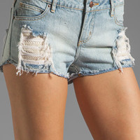 Obey Lace Denim Short in Destroy from REVOLVEclothing.com