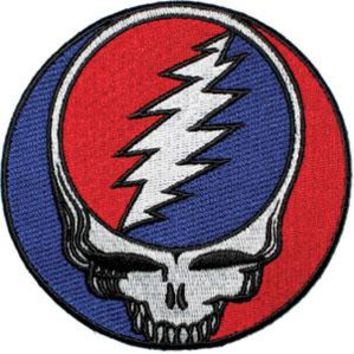 Grateful Dead Men's Steal Your Face Back Patch Multi