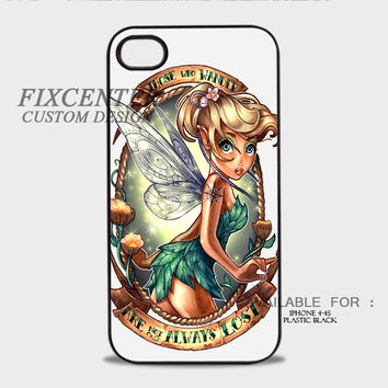 Disney Tinkerbell Lost Tatto Plastic Cases for iPhone 4,4S, iPhone 5,5S, iPhone 5C, iPhone 6, iPhone 6 Plus, iPod 4, iPod 5, Samsung Galaxy Note 3, Galaxy S3, Galaxy S4, Galaxy S5, Galaxy S6, HTC One (M7), HTC One X, BlackBerry Z10 phone case design