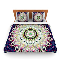 "Iris Lehnhardt ""Summer of Folklore"" Pink Navy Lightweight Duvet Cover"