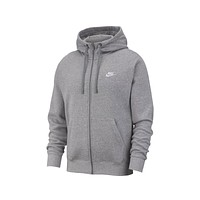 Nike Men's NSW Sportswear Club Fleece Full-Zip Hoodie Dark Heather Grey