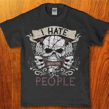 I hate people skull awesome Men's t-shirt