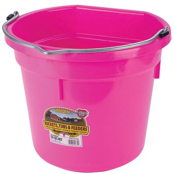 Little Giant 20 Quart Hot Pink Flat Back Plastic Bucket