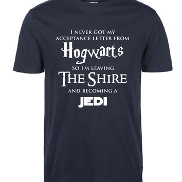 "Hogwarts- ""Harry Potter"" -Star Wars - ""Jedi"" Inspired Funny T-Shirt"