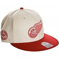 47 Brand 47 Brand Detroit Red Wings cap natural and red - 47 Brand from Great Clothes UK