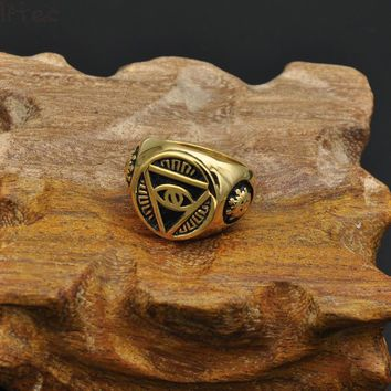 Egyptian Pyramid Eye Ring