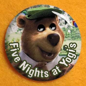 "31. Five Nights at Yogi's - 1.25"" pinback button - Yogi Bear Five Nights at Freddy's"
