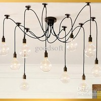 Wholesale SimpleStyle Edison Chandelier Light Pendant Lamp10 Lights (INCLUDED bulb amp; remote control), Free shipping, $219.11-235.12/Piece   DHgate