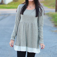 Lace Darling Tunic {Sage}