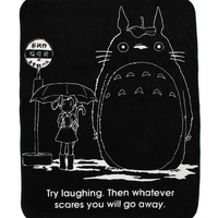 Studio Ghibli My Neighbor Totoro Try Laughing Throw