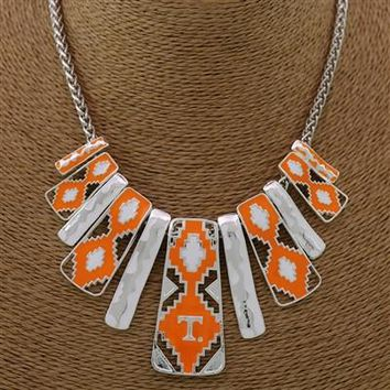 Tennessee Volunteers - Aztec Print Necklace