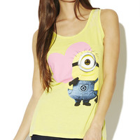 Despicable Me Heart Burnout Tank | Wet Seal