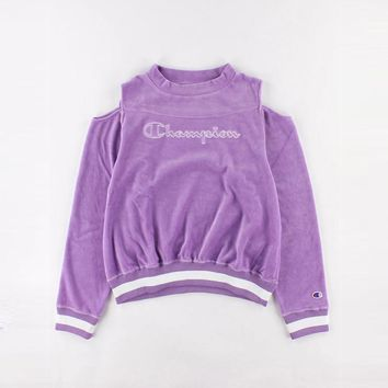 Winter Women's Fashion Velvet Pullover Long Sleeve Hoodies [350654922788]