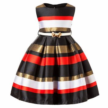 Chic Striped Princess Dress