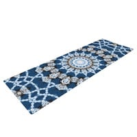 "Iris Lehnhardt ""Mandala II"" Blue Abstract Yoga Mat"