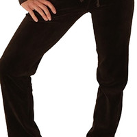Juicy Couture Straight Leg Skinny Velour Pants Granola