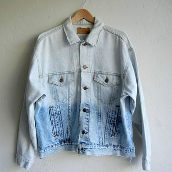 Mens Acid DipDyed Vintage Levi's Denim Jacket by rerunvintage