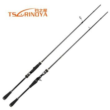 Tsurinoya Brand 100% Carbon Spinning Fishing Rods 2.1m Fast System Bait Casting Fishing Rod Fuji Rings Fast Lure Rod