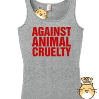 Against Animal Cruelty Tank Top Shirt Gifts For Men Gifts For Women feminism feminist protect stop love pets adorable cute rights