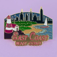 East Coast Enamel Pin