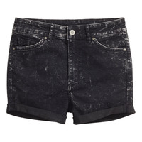H&M - Shorts High waist - Black - Ladies