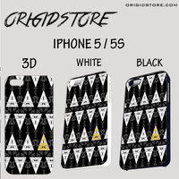 gravity fall pyramid eye upside down Case For Iphone 5/5S