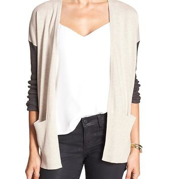 Banana Republic Womens Factory Colorblock Cardigan